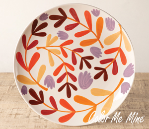 Tucson Fall Floral Charger