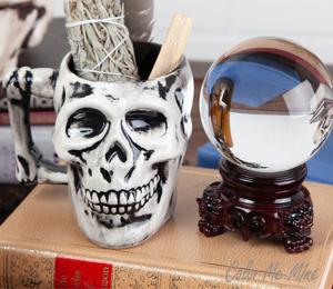 Tucson Antiqued Skull Mug