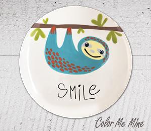 Tucson Sloth Smile Plate