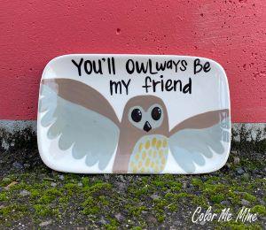 Tucson Owl Plate