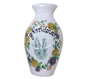 Tucson Floral Handprint Vase