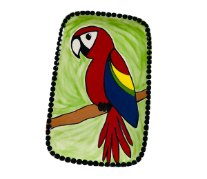 Tucson Scarlet Macaw Plate